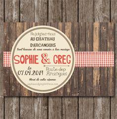 faire-part-mariage-vintage-bois-ruban-vichy-rouge