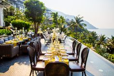 Reception Dinner set up at Intercontinental Danang. #HoiAnEventsWeddings #VietnamBeachWeddings