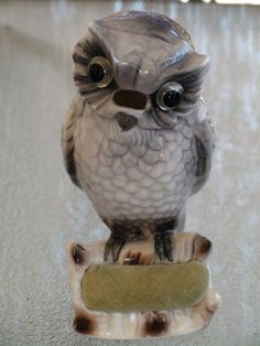 Vintage 1940's OWL PIN CUSHION Lenwhile Ardalt China by CBCSTORE, $34.99