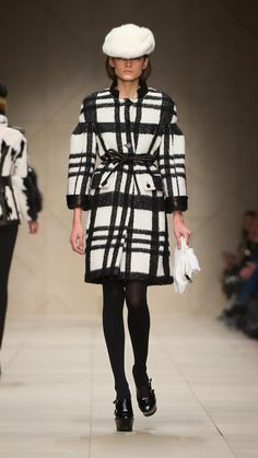 Burberry Clothes for Women | Burberry Prorsum women graphic check wool and mohair sculptural coat 6