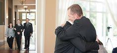 Lake Mary Events Wedding - Corner House Photography - Orlando Wedding Photographer- groom hugging his father