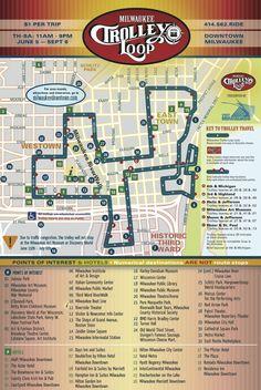 Milwaukee Downtown trolley loop $1