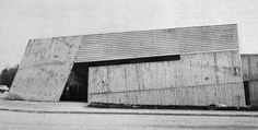 Mammouth Supermarket, Epernay, France, 1970(Claude Parent) Amazing Architecture, Interior Architecture, Epernay France, Ornament And Crime, Etudes Studio, Interesting Buildings, Small Buildings, Built Environment, Brutalist