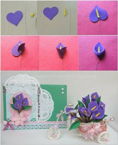DIY Tutorial: DIY Paper Crafts / DIY Flower Making - Bead&Cord Want great helpful hints on arts and crafts? Head out to my amazing info!not the actual project in pic, but the tutorial on making the DIY calla lily.diy paper, foam or felt lily flowersp Clay Flowers, Fabric Flowers, Paper Flowers, Foam Flower, Origami Flowers, Fondant Flowers, Foam Sheet Crafts, Foam Crafts, Kids Crafts
