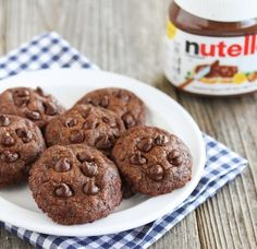 3 Ingredient Eggless Nutella Cookies