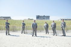Joe Tonetti and his groomsmen on Long Beach Island. @styledpink