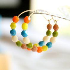 Retro 14K GF Hoop Earrings by NestPrettyThingsShop on Etsy, $20.00