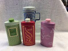 Lot of 4 Vintage Avon Perfumed Talc Tins #Avon