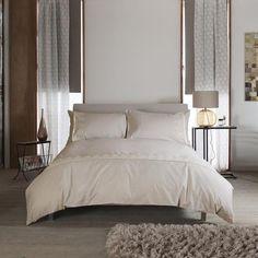 Carla Lace Natural 100% Cotton Duvet and Pillowcase Set
