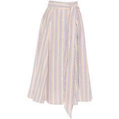 Lisa Marie Fernandez Seersucker midi skirt (3.650.500 IDR) ❤ liked on Polyvore featuring skirts, multi, seersucker skirt, midi skirt, mid calf skirts, lisa marie fernandez and calf length skirts