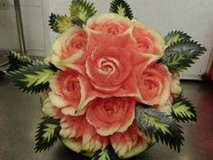 Rosas en sandía