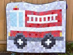 Little Firetruck Quilt Tutorial