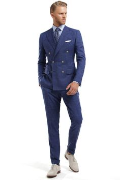 36 Best Blue Suit Collection For Elegant Men Work Outfit Best Blue Suits, Smoking, Men's Business Outfits, Mother Daughter Matching Outfits, Smart Casual Outfit, Elegant Man, Vintage Inspired Outfits, Latest Mens Fashion, Gentleman Style