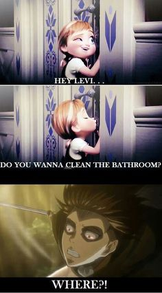 Oh my god! Chill Levi, chill! Lol XD