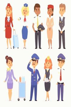 #Pilots #flight #attendants stewardesses attendants officers isolated flight pilots set and of Set of officers and flight pilots flight attendants Stewardesses pilots flight   Set of officerYou can find Pilots and more on our website Simple Character, 2d Character, Character Design Animation, Flight Pilot, Go Online, Attendance, Creative Sketches, Flight Attendant, Business Card Logo