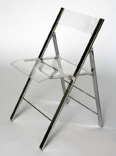 Clarity Acrylic Folding Chairs   (Set Of 2) WI