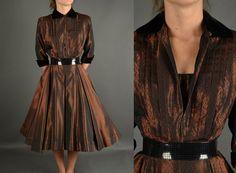 Full Skirt Dress Vintage 1940s Dress full skirt by NodtoModvintage, $190.00