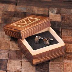 Engraved Stainless Steel Cuff Links Cufflinks – Pac Man