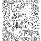 Coloring pages for adults quotes 12 inspiring quote coloring pages for adultsfree printables cheer coloring pages Quote Coloring Pages, School Coloring Pages, Coloring Pages Inspirational, Printable Adult Coloring Pages, Coloring For Kids, Coloring Pages For Kids, Coloring Books, Inspirational Quotes, Fathers Day Coloring Page