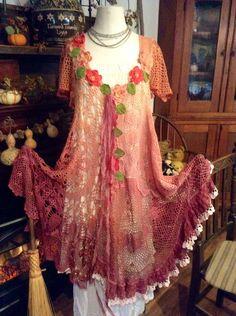 Farb-und Stilberatung mit www.farben-reich.com - Luv Lucy crochet dress Sahara Sunset. Boho by LuvLucyArtToWear, $325.00