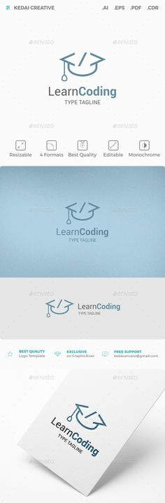 Learn Coding Logo Template Vector EPS, AI. Download here: http://graphicriver.net/item/learn-coding/11952043?ref=ksioks