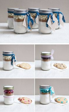 Mason Jar Cookie Mix | DIY Christmas Gifts in a Jar Ideas | DIY Last Minute Christmas Gifts