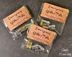 Emergency Glitter Pills – Add Some Sparkle To Your Day Coach Gifts, Team Gifts, Cheerleading Gifts, Softball Gifts, Basketball Gifts, Glitter Pills, Pharmacy Gifts, Good Luck Gifts, Locker Decorations
