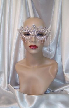 Your place to buy and sell all things handmade Masquerade Party Outfit, Gold Masquerade Mask, Sweet 16 Masquerade, Crystal Crown, Crystal Rhinestone, Mardi Gras Outfits, Bridal Mask, Fashion Mask, Valley Girls