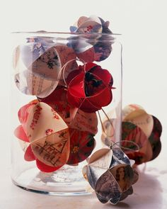 Holiday Card Ornaments - These ornamental balls are made from holiday cards from Christmases past.