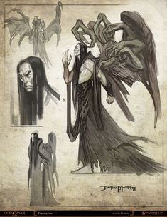 """""""God of War"""" concept art by Justin Murray -- one of the Arch-Angels Character Inspiration, Character Art, Character Design, God Of War, Dark Souls, Fantasy Creatures, Mythical Creatures, Fantasy Kunst, Fantasy Art"""