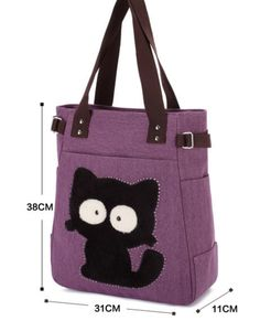 Women Cartoon Cute Cat Handbags Large Capacity Sweet Shopping Handbags Leisure Shoulder Bags is designer, see other popular bags on NewChic. Canvas Handbags, Tote Handbags, Animal Print Shoulder Bags, Big Tote Bags, Animal Bag, Popular Bags, Patchwork Bags, Casual Bags, Fashion Handbags