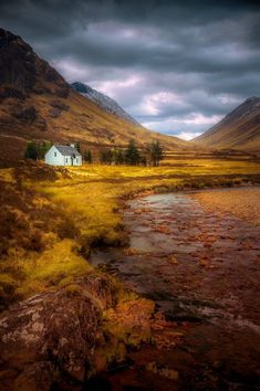 A wonderful cloudy day at Glencoe, Scotland.