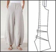 Sewing Pants, Sewing Clothes, Diy Clothes, Dress Sewing Patterns, Clothing Patterns, Fashion Sewing, Diy Fashion, Fashion Pants, Fashion Outfits