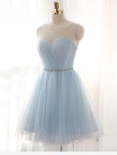 Blue Homecoming Dresses, Hoco Dresses, Bridesmaid Dresses, Grad Dresses Short, Graduation Dresses, Mini Dresses, Ball Dresses, Formal Dresses, Beaded Prom Dress