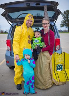 Brittany: This is a family costume. My 2 year old son's favorite movie this year is Monster's Inc. One of our favorite quotes (and one we use often when the toddler...
