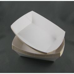 Eco Products :: Enviro Containers :: Food Containers :: #2Small White Food Tray 110x75x40mm - Packaging Direct