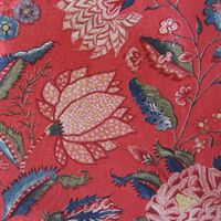 Island Marken Allover - Red. Dutch repro fabric at Happiness is Quilting. Brand: Collection Den Haan & Wagenmakers.