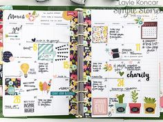 March in my Clover Carpe Diem planner using the Simple Stories Faith collection
