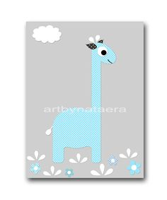 Baby Boy Nursery Giraffe Nursery Digital file by nataeradownload