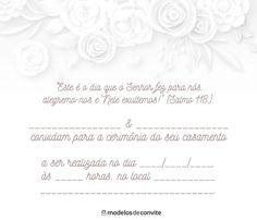 Convites de Casamento para Imprimir - Modelos para Editar – Modelos de Convite Place Card Holders, Personalized Items, Wedding, Wedding Vows, Best Man Wedding, Trays, Valentines Day Weddings, Weddings, Marriage