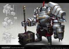 ArtStation - Inquisition: White Golem Knight, Ian Ho