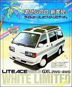 Classic Car News Pics And Videos From Around The World Toyota Hiace, Toyota Corolla, Classic Japanese Cars, Classic Cars, Retro Cars, Vintage Cars, Toyota Van, Car Brochure, Cool Vans
