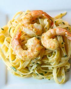 Low FODMAP Recipe and Gluten Free Recipe - Lemon Shrimp Pasta http://www.ibssano.com/low_fodmap_recipe_lemon_shrimp_pasta.html