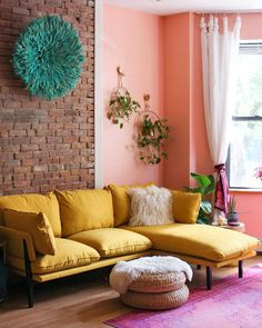 """Clare - Paint a home you love💛 on Instagram: """"It's all pink everything in @meganzietz's amazing NYC apartment 💕 She used not one, but *two* Clare pinks to transform the once-neutral…"""""""