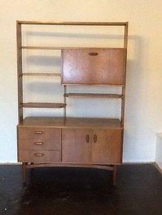 Vintage Retro G Plan E Gomme Teak Room Divider Bookcase / Drinks Cabinet