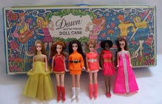Dawn Dolls.  I only had Dawn (far left); I don't think I knew she had friends! Ha ha!