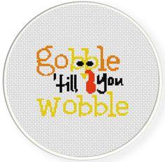 Gooble Till You Wobble PDF Cross Stitch Pattern Needlecraft - Instant Download - Modern Chart