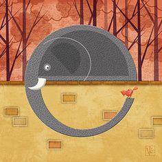 """""""E is for Elephant"""" by Valerie   Drake Lesiak"""