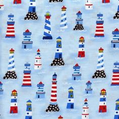 This fabric is great for quilting, sewing, and crafts. Design: Red stripe lighthouse 1 x --------Fabric Details--------. There is a link on the blue header below our logo. Fabric Crafts, Sewing Crafts, Diy Crafts, Timeless Treasures Fabric, Moda Charm Packs, Rainbow Swirl, Vintage Paris, Outdoor Fabric, Leather Fabric