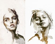 L'artiste et illustrateur numériqueFlorian Nicolleallie des couches de papier journal, de l'aquarelle, des crayons, de la peinture numérique afin